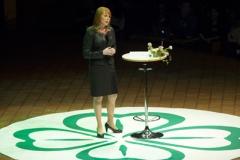 130201 Örebro, Kommundagarna startar med talen, här med Anni